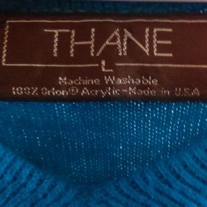 Thane Sweaters - Thane Large Blue Long Sleeve Sweater